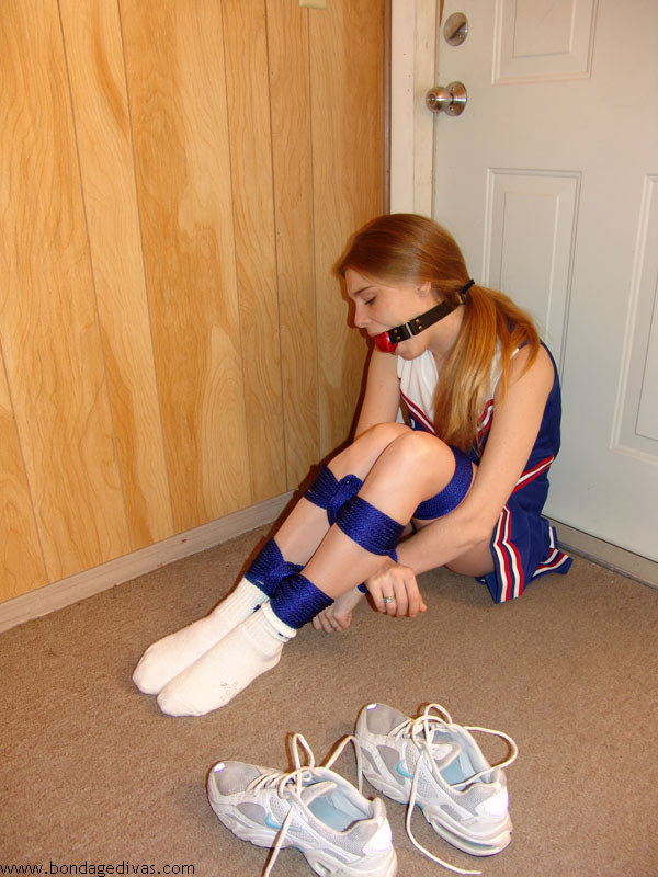 Cute cheerleader tied amp gagged tight humiliated by rivals pt 3 9